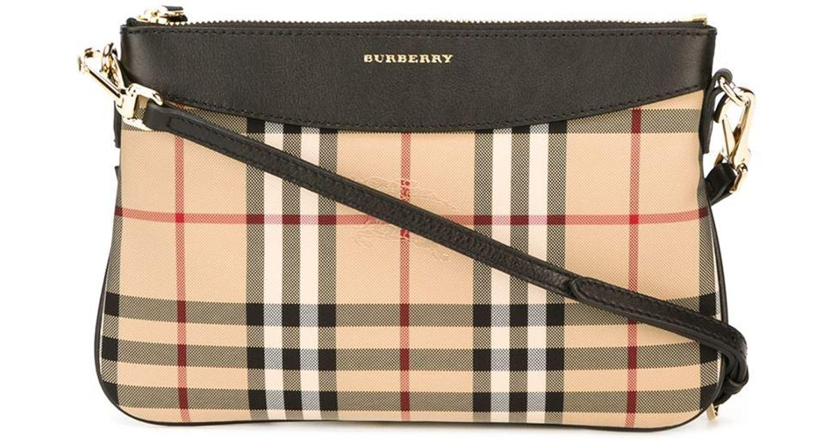 Burberry - Natural Horseferry Check Crossbody Bag - Lyst