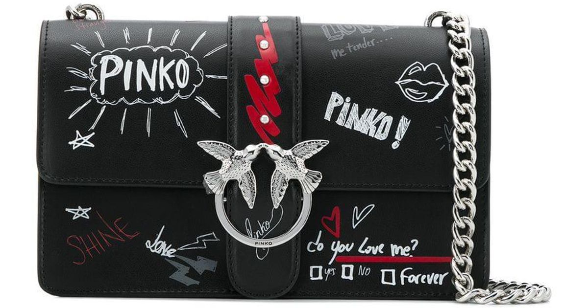 5244fc3d2d0fd Lyst - Pinko Graffiti Love Bag in Black