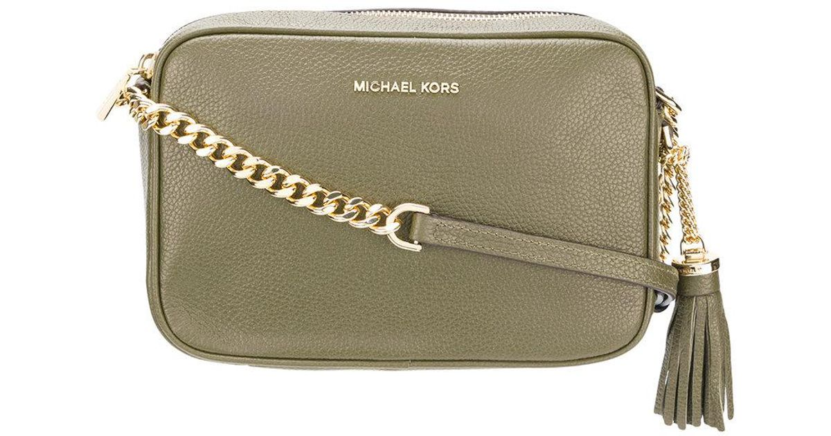 c9725b94fc24 Lyst - MICHAEL Michael Kors Tassel Crossbody Bag in Green