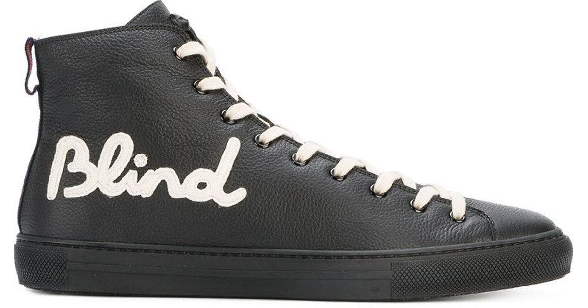 8f4ae0ba25d Lyst - Gucci Blind For Love Hi-top Sneakers in Black for Men