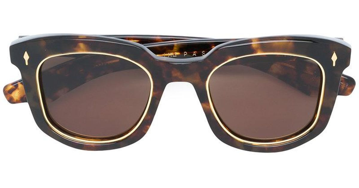 b41d5ad32b3 Lyst - Jacques Marie Mage Pasolini Sunglasses in Brown