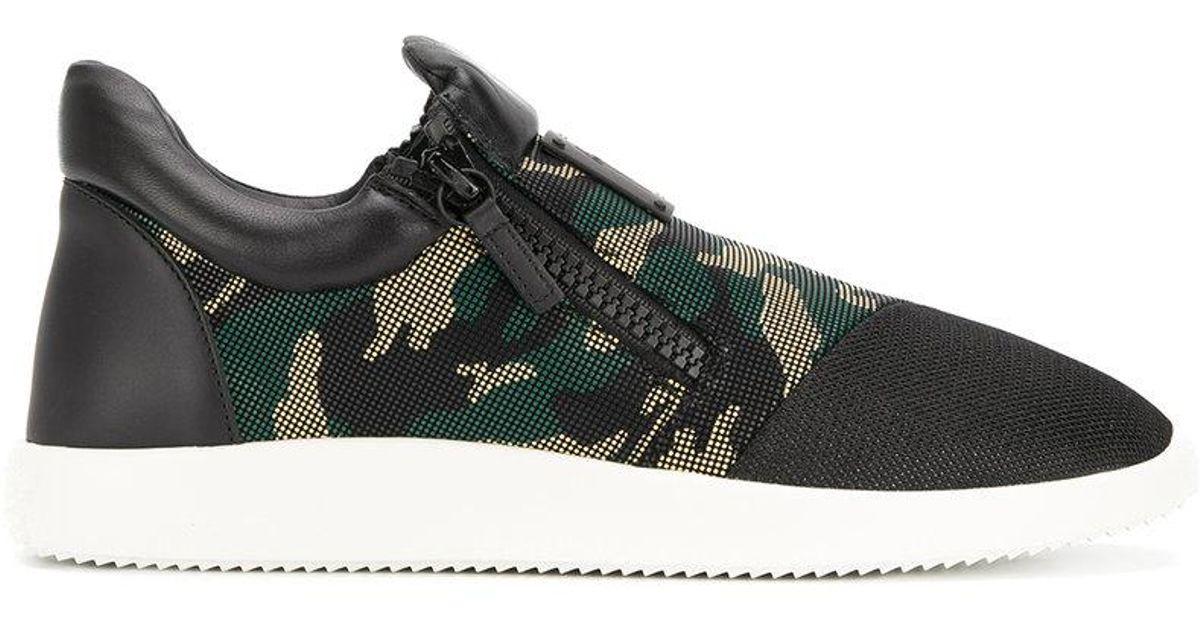e86cc1eb433c8 Giuseppe Zanotti Camouflage Runner Sneakers in Black for Men - Lyst