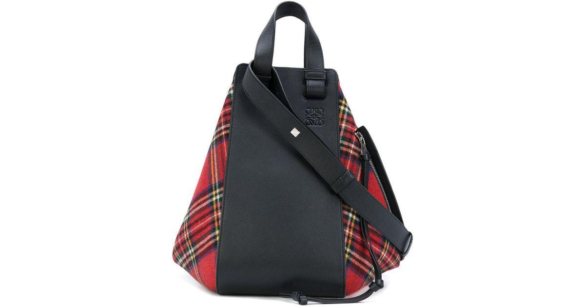 5d77789eaa Lyst - Loewe  hammock  Tartan Bag in Red