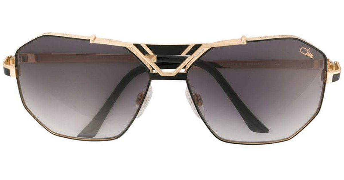 87c0711bbb9 Lyst - Cazal Square Tinted Sunglasses in Metallic