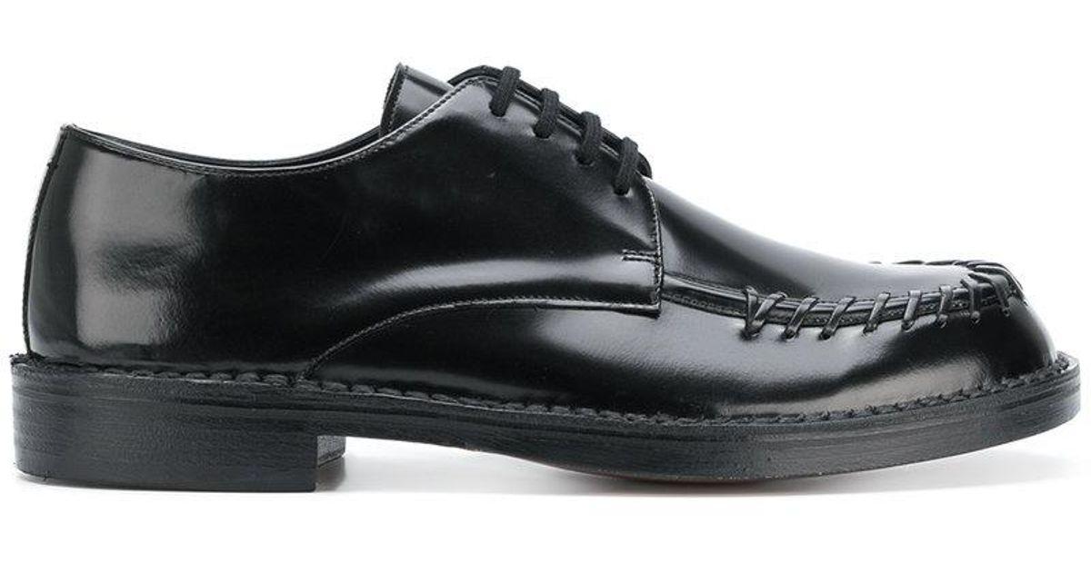 stitch detail derby shoes - Black Marni SVHzTtmoj