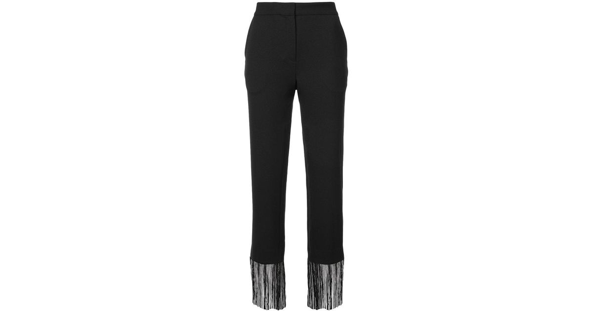 fringed tailored trousers - Black Prabal Gurung D6ClX