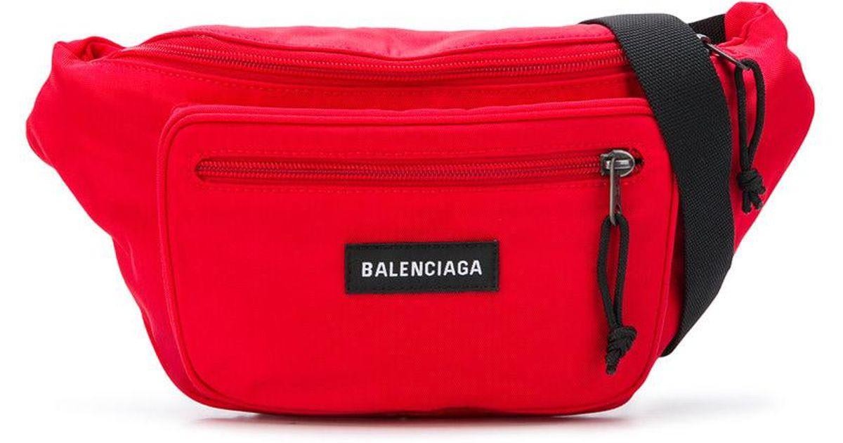 eeb841dc000d3c Lyst - Balenciaga Explorer Belt Pack in Red for Men