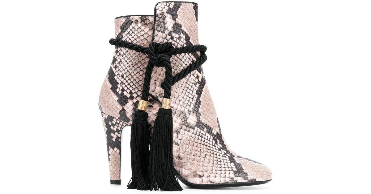snake-effect tassel boots - Pink & Purple Philosophy di Lorenzo Serafini Low Price Sale Online 2018 Outlet Choice 9Azczw