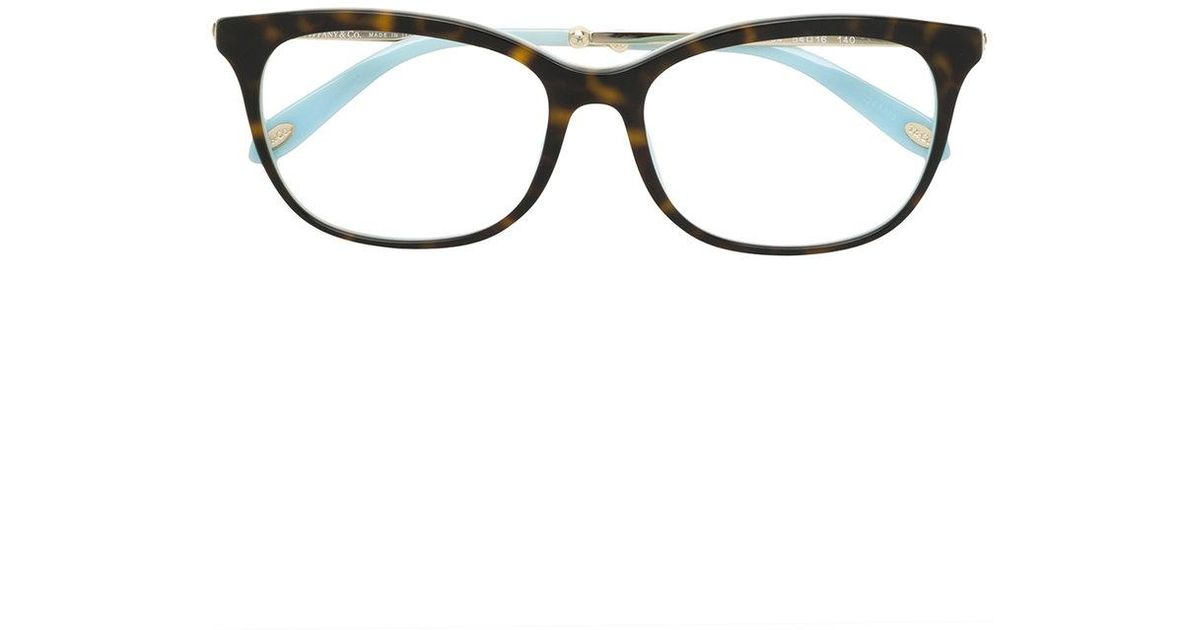 Tiffany & Co Square Frame Glasses in Brown - Lyst