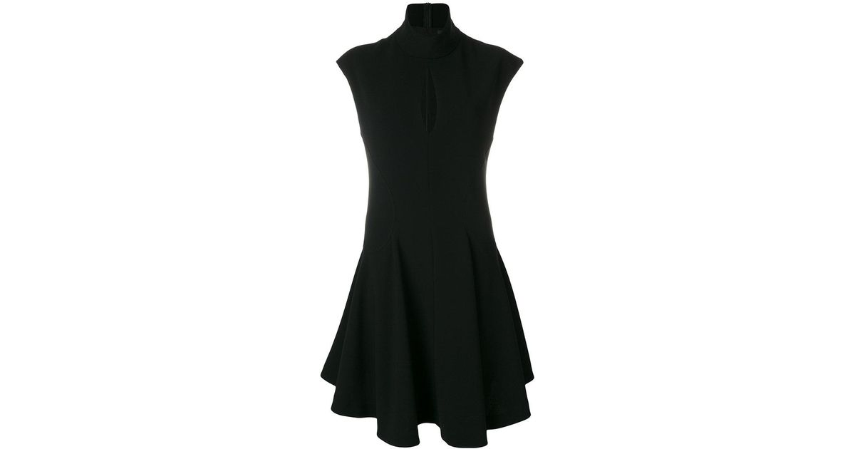 slit detail flared dress - Black Neil Barrett