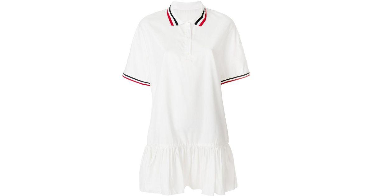 trim peplum polo dress - White Moncler RGUW77