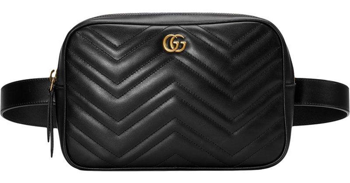 4aae1e42823ffc Lyst - Gucci GG Marmont Matelassé Belt Bag in Black for Men