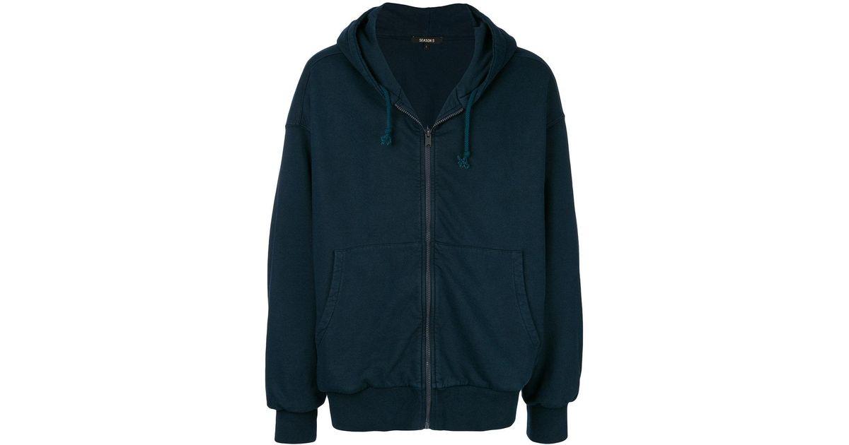 d9684884b Lyst - Yeezy Oversized Hoodie in Blue for Men