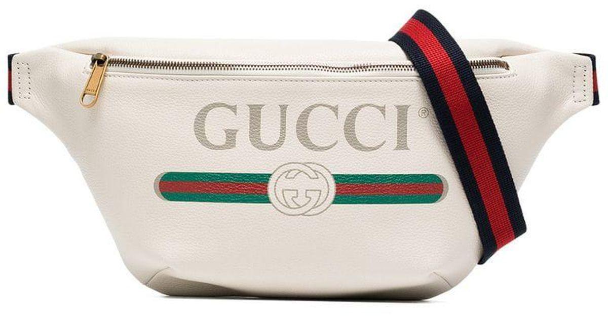 atarse en sitio web para descuento en pies tiros de Bandolera de piel con logo Gucci de hombre de color White