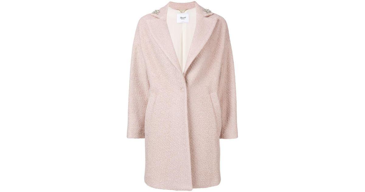 Blugirl embellished single breasted coat Sale Newest nPmZNGf