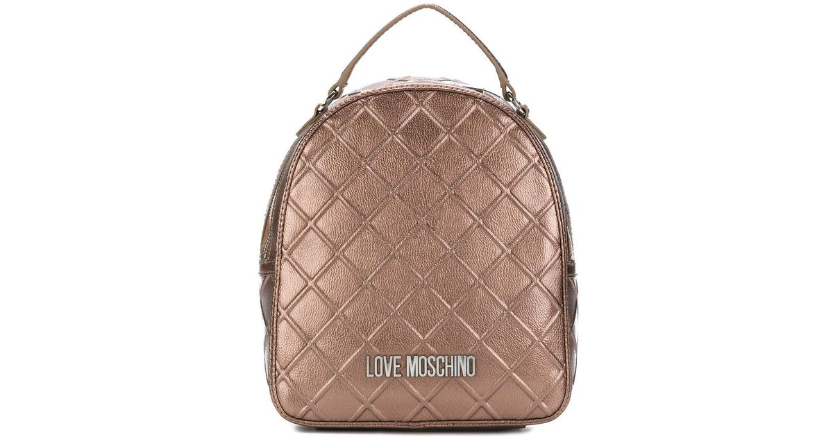 1e789b31be Lyst - Love Moschino Emossed Style Mini Backpack in Brown