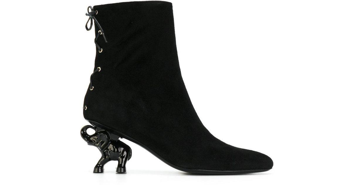 Heel Boots Black Elephant Lyst Dorateymur In Ybg6yvIf7