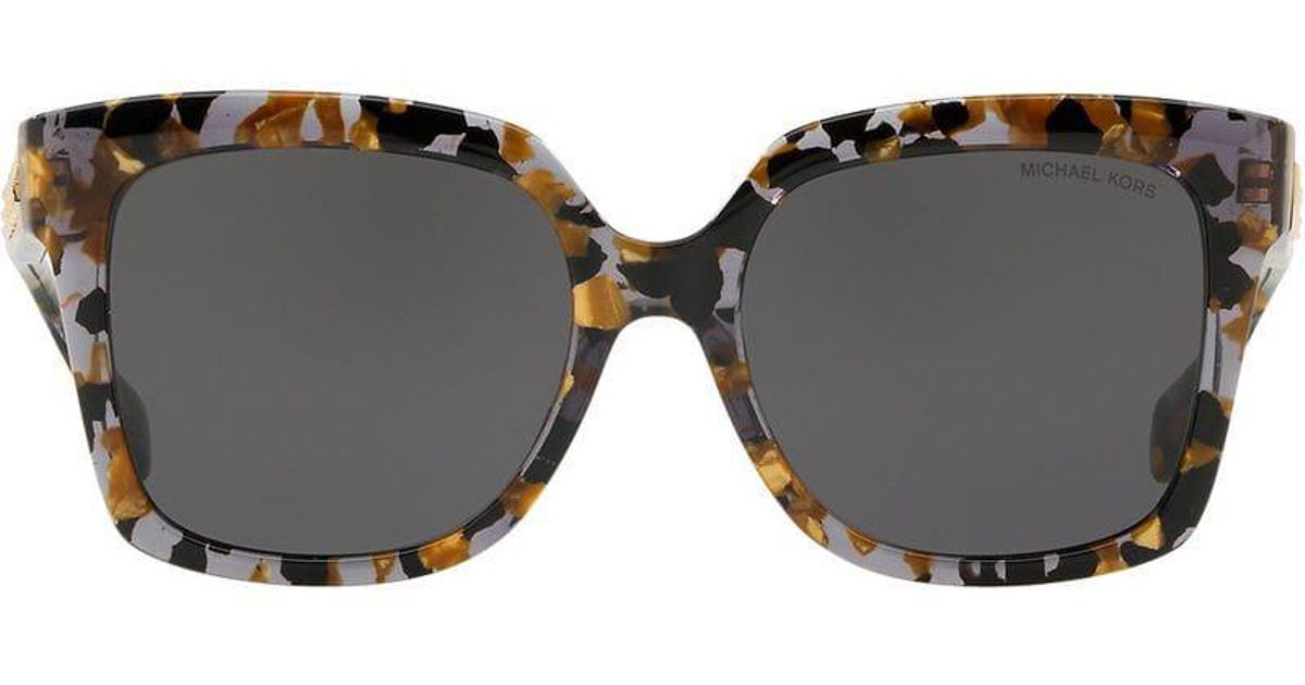 5f142cdf53663 Michael Kors Oversized Tortoiseshell Sunglasses in Black - Lyst