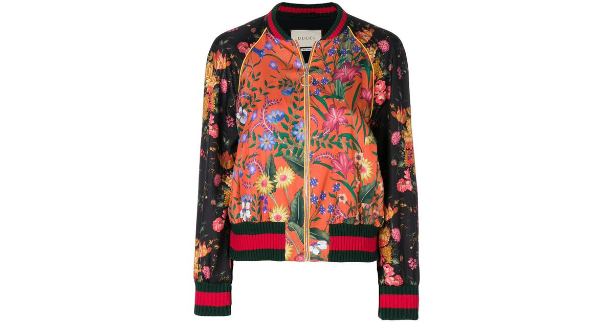 54a5ad8f Gucci Loved Panther Bomber Jacket - Lyst