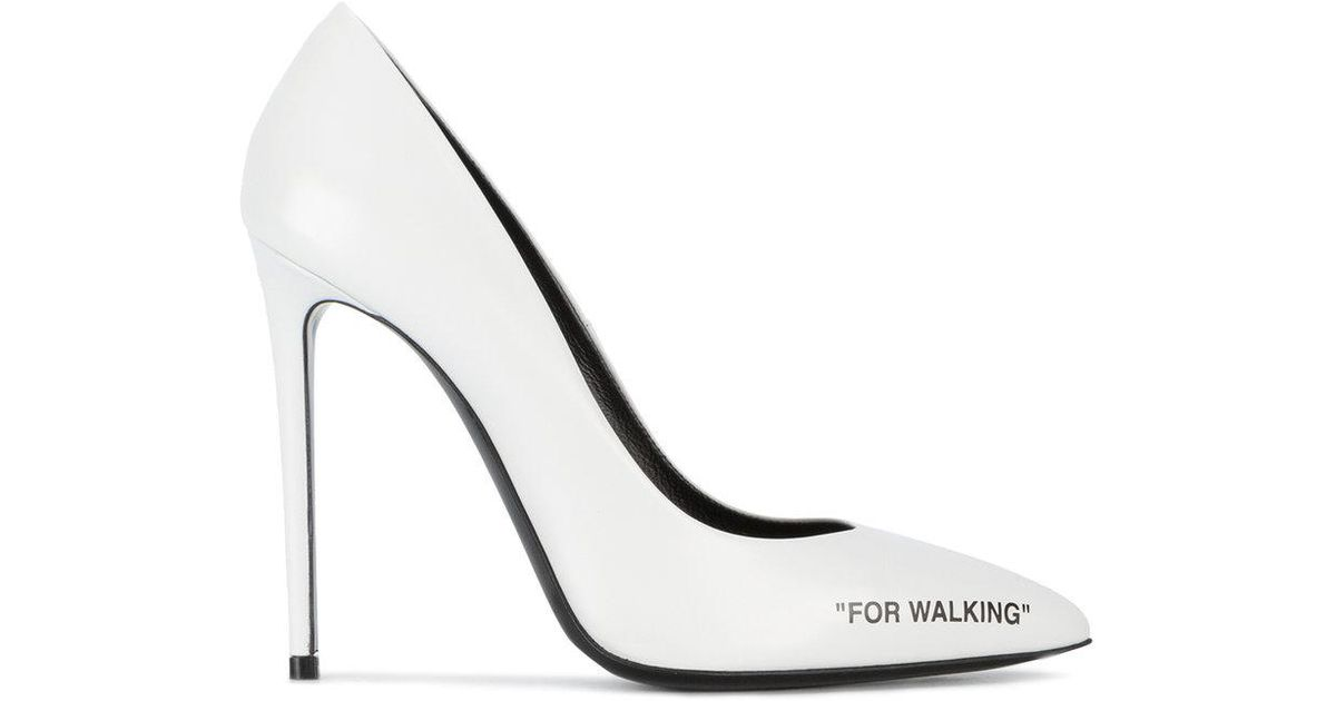 a41a5f805 Off-White c/o Virgil Abloh White For Walking Pumps in White - Lyst