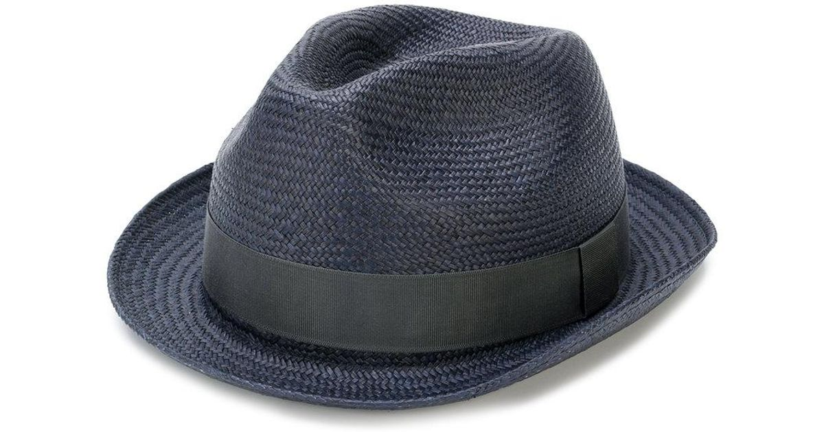 3e56d6d56d619 Paul Smith Panama Hat in Blue for Men - Lyst