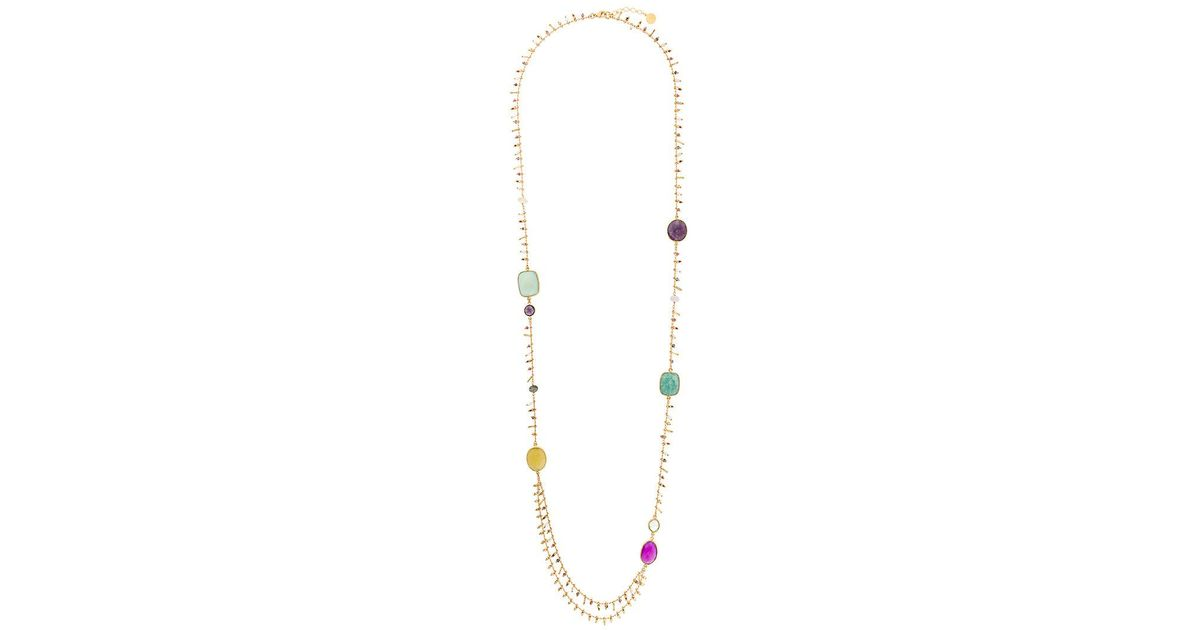 Serti Pondicherie Long Necklace - Metallic Gas Bijoux vCIYb0A