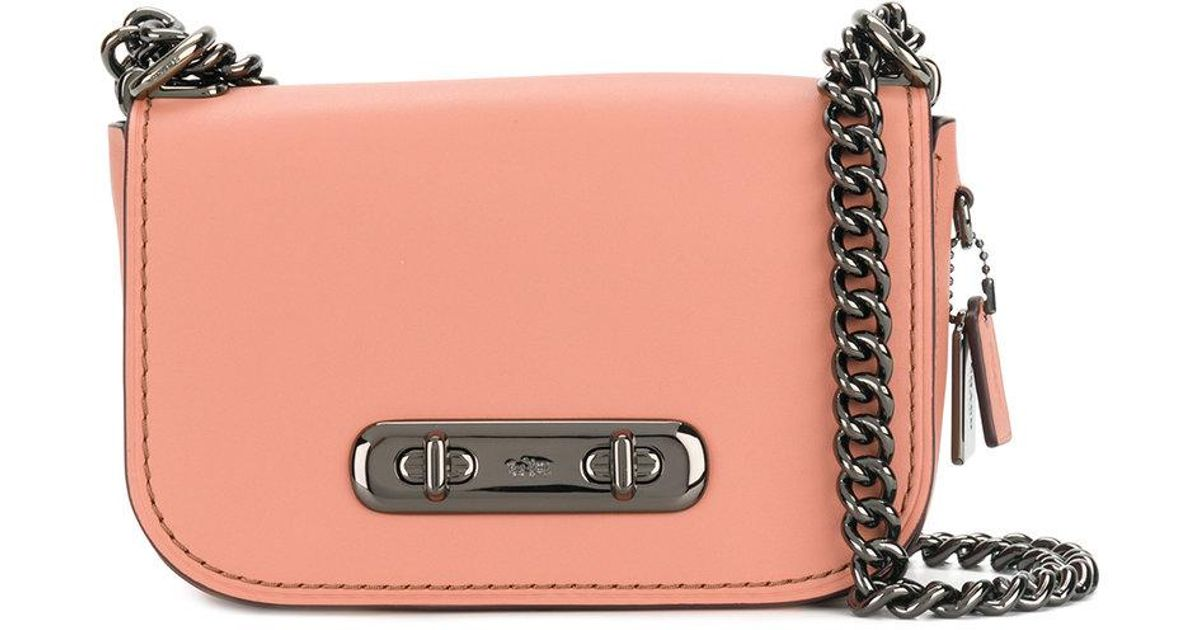 40f10549d Lyst - COACH Swagger 20 Shoulder Bag in Pink