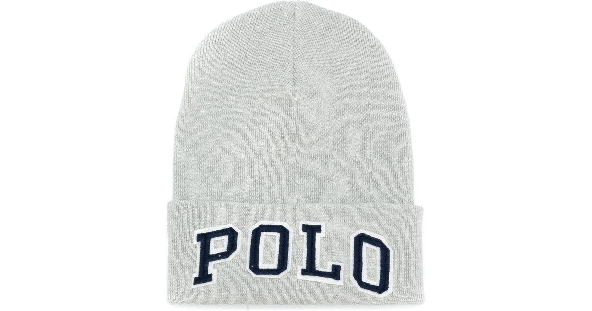 Polo Ralph Lauren Polo Beanie Hat in Gray for Men - Lyst 7cd20323b45