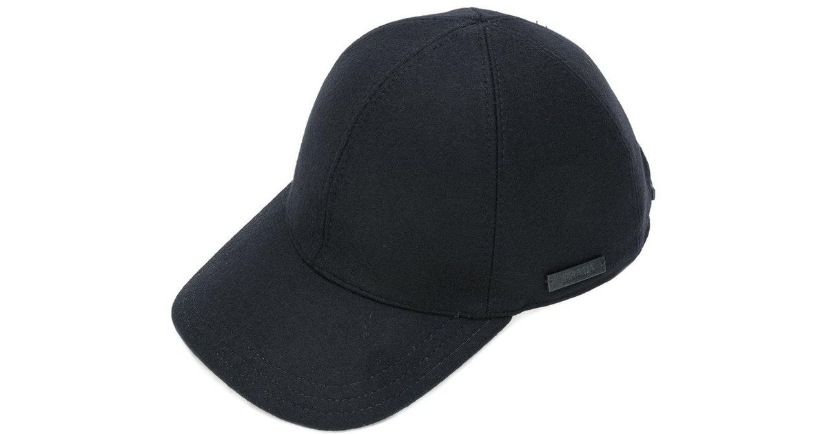 cbf51dfe29b Lyst - Prada Logo Patch Cap in Black for Men