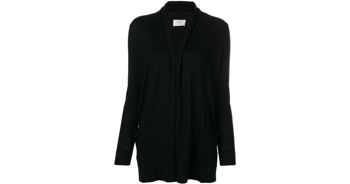 Sheep Snobby Cardigan Knitted Lyst In Black fxxdqUw