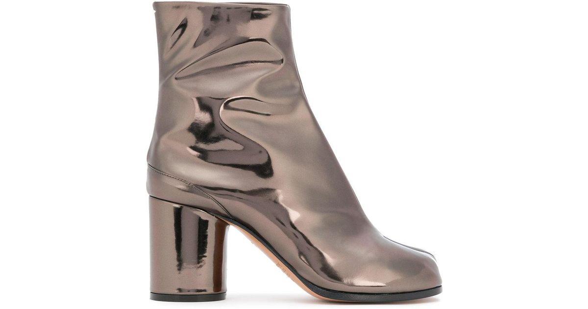 Maison Margiela Laminated Tabi boots KltFp