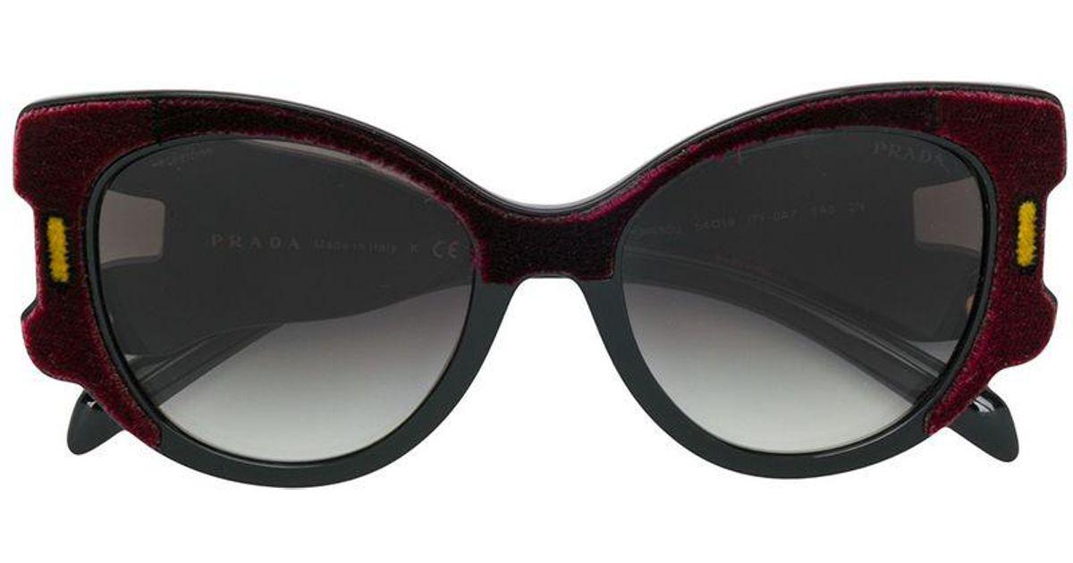 c25788c9d3df Lyst - Prada Velvet Oversized Sunglasses