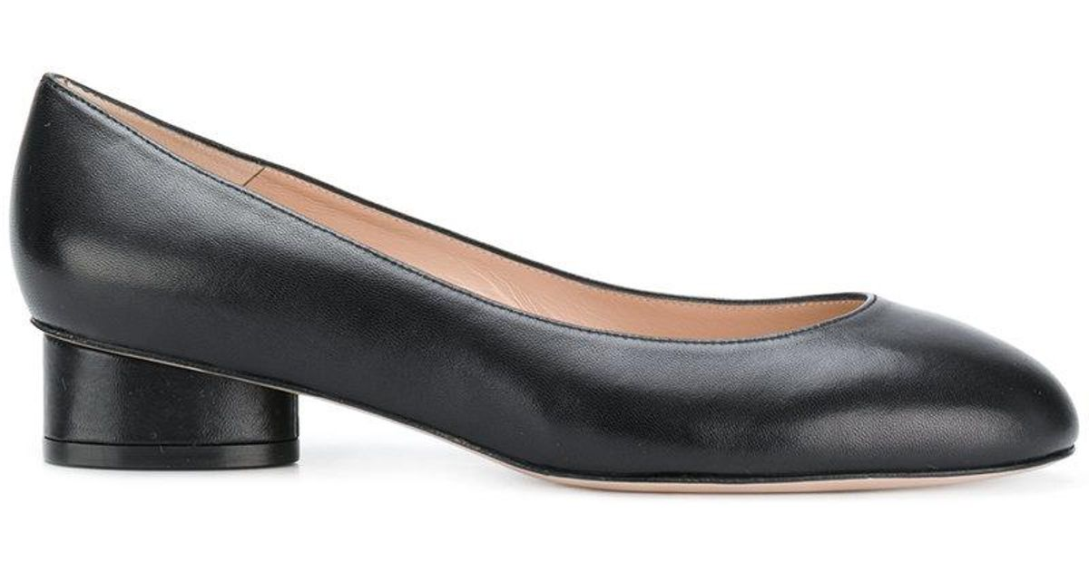 5d2f2b08e5 Stuart Weitzman Low Block-heel Pumps in Black - Lyst