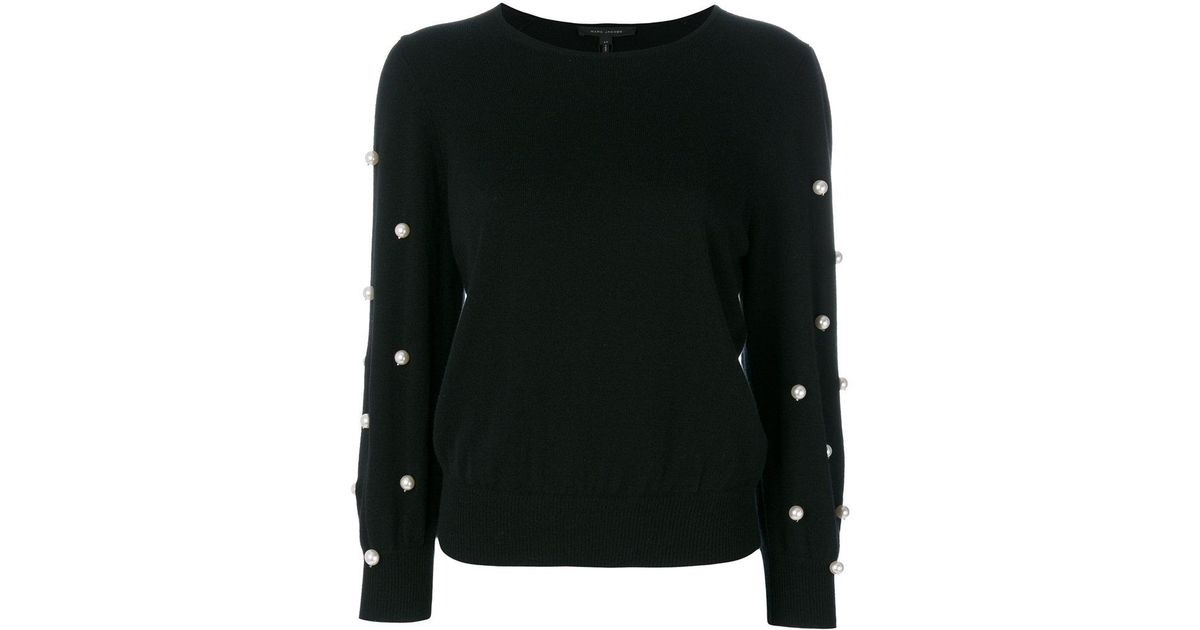 faux pearl embellished jumper - Black Marc Jacobs Cheap Sale Geniue Stockist Cheap Sale Manchester Great Sale bLStfKLeKq