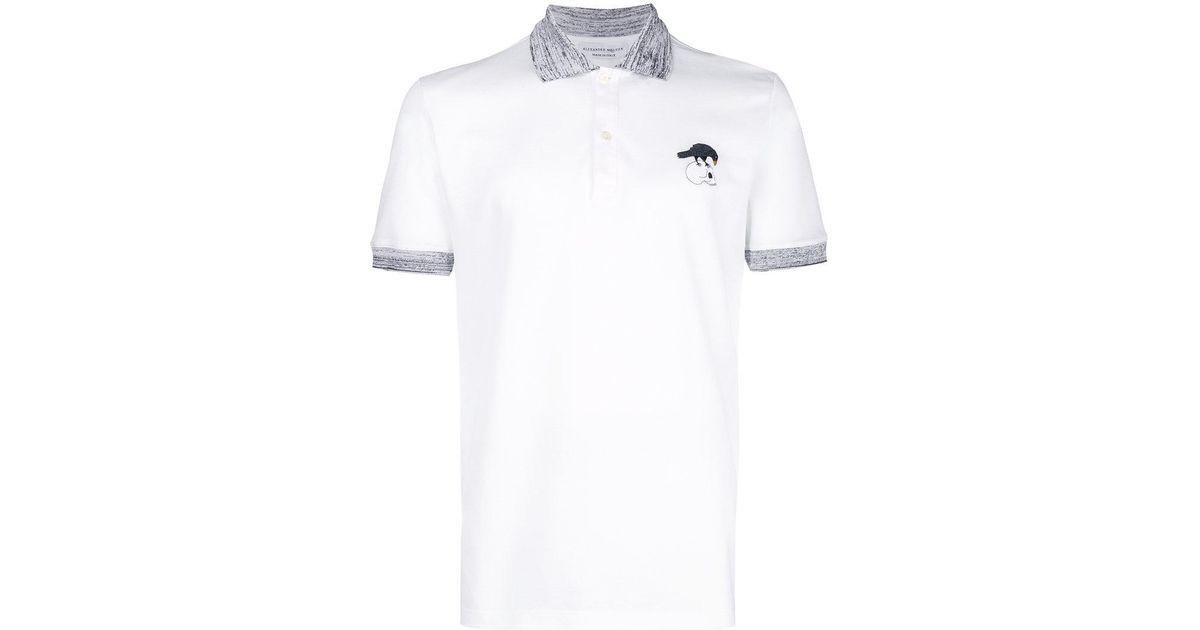 f99770407 Alexander McQueen Polo Shirt in White for Men - Lyst