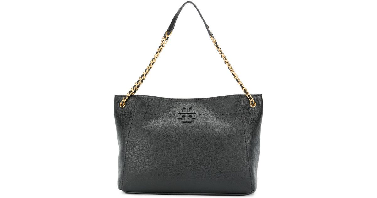 953426e1a4e8 Lyst - Tory Burch Mcgraw Chain-shoulder Slouchy Tote in Black
