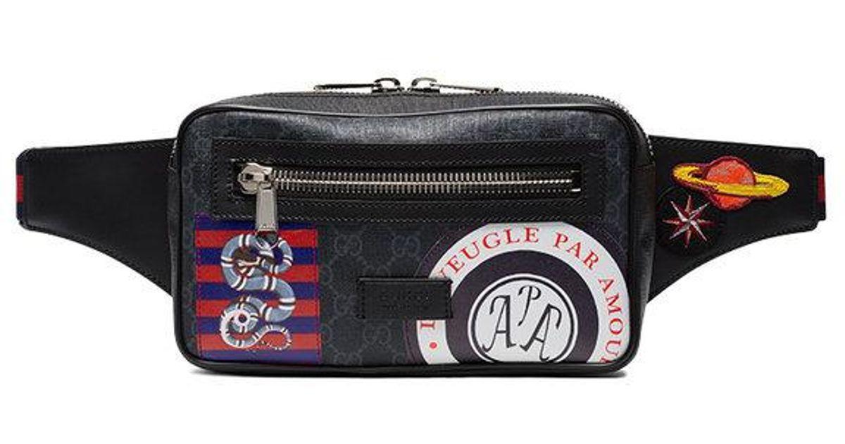09c4c1e68a59 Gucci Night Courrier Gg Supreme Belt Bag I in Black for Men - Lyst
