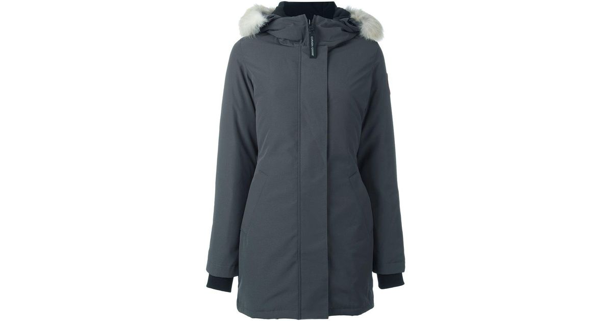 3c44e8a8dcc2 ... official store canada goose victoria parka in gray lyst 09f35 615a4
