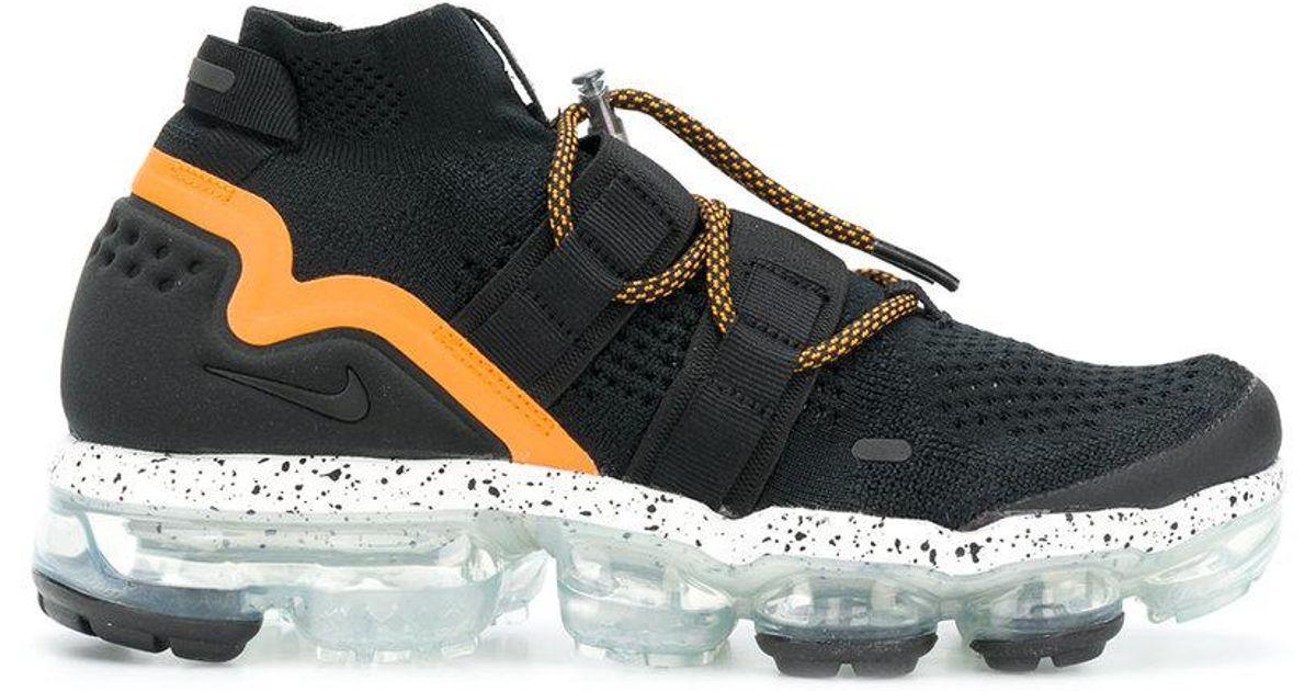db93ddcf71d9 Lyst - Nike Air Vapormax Flyknit Utility Sneakers in Black for Men