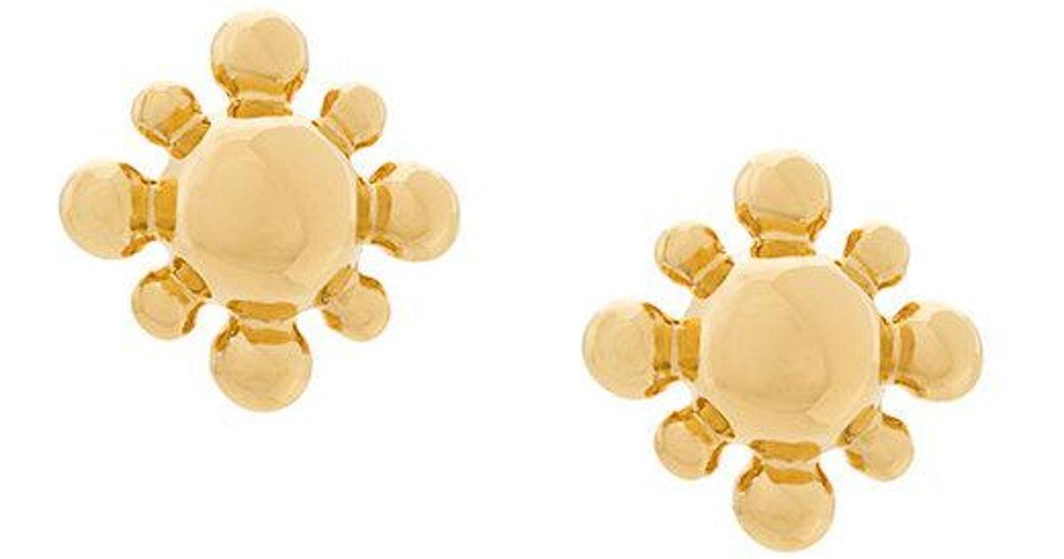 Astley Clarke lapis mini floris studs - Metallic yv1BGJr