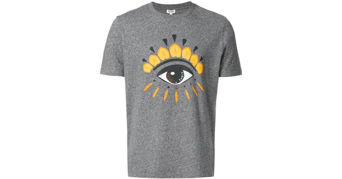 e10d1915 Lyst - KENZO Eye T-shirt in Gray for Men