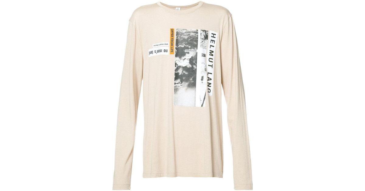 9940d900c8e9 Helmut Lang Travis Scott Debris Long Sleeved T-shirt - Men - Cotton/modal -  S in Natural for Men - Lyst