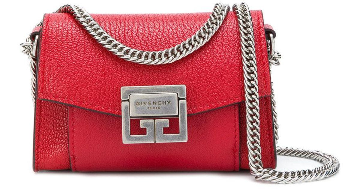 d970ce6f2fe4 Lyst - Givenchy Gv3 Nano Crossbody Bag in Red