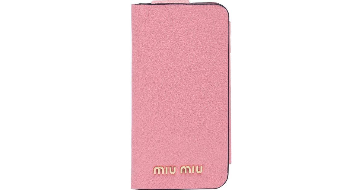 Cover per iPhone XR in Madras  Miu Miu 5ZH082_2BC3_F0028