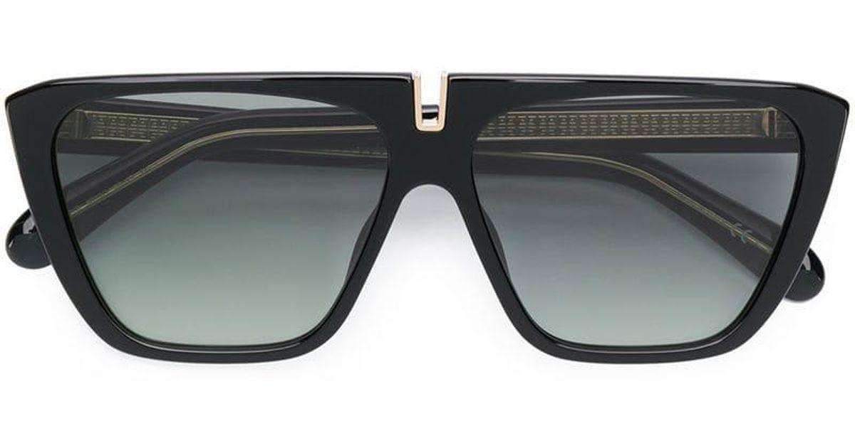 f960bb4926 Gafas de sol cuadradas con lentes de color Givenchy de color Negro - Lyst