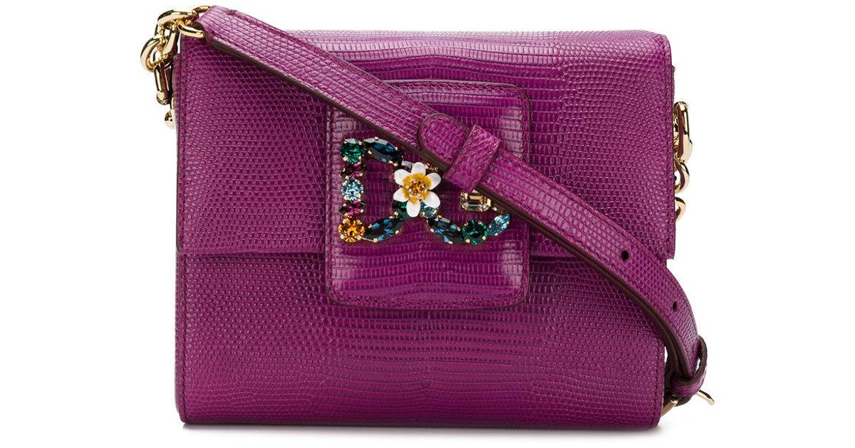 b62246da078 Dolce & Gabbana Dg Millennials Mini Crossbody Bag in Purple - Lyst