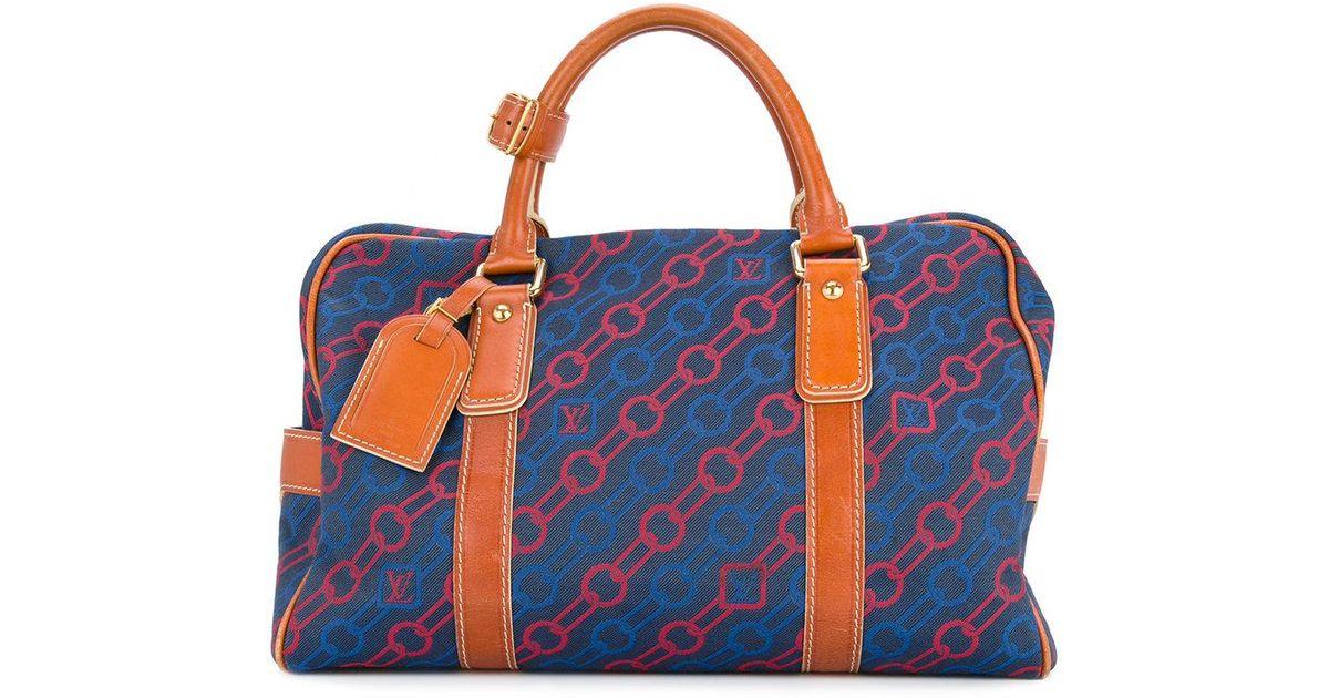 d098c2a54 Lyst - Bolso de viaje Charm line Louis Vuitton de color Azul