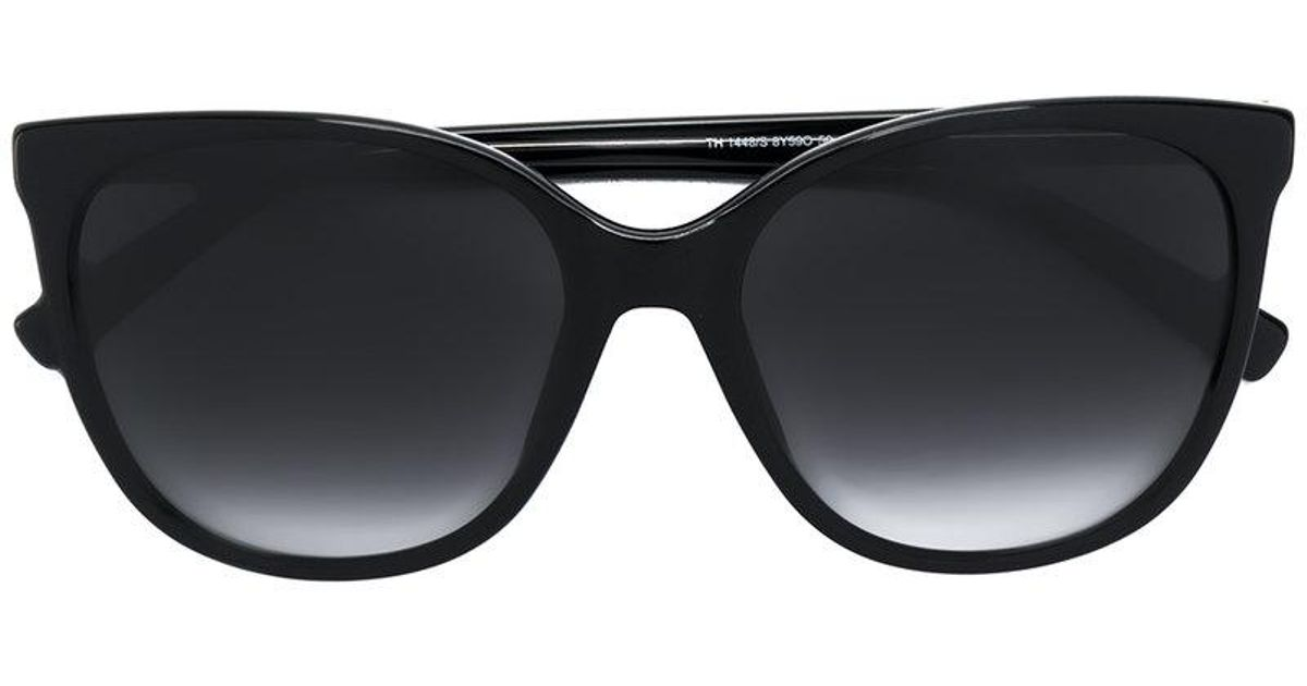 9c88a61d Tommy Hilfiger Oversized Cat Eye Sunglasses in Black - Lyst