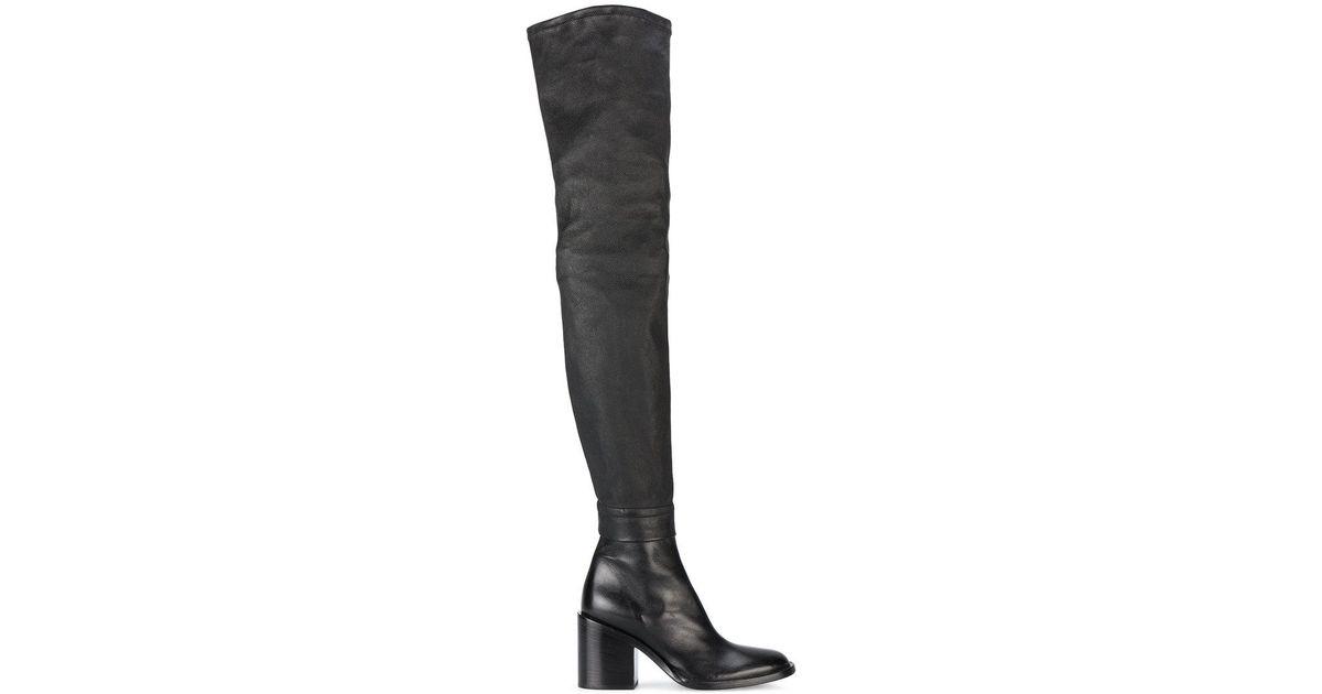 8b984de254a Lyst - Ann Demeulemeester Thigh-high Mid-heel Boots in Black