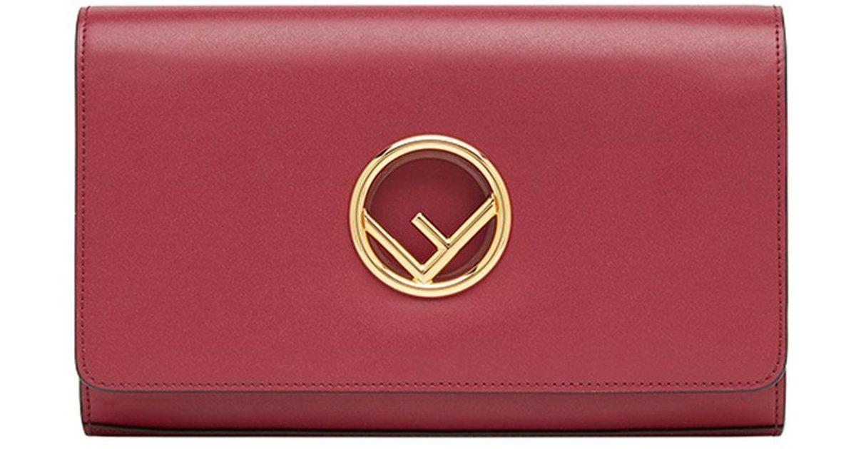 Fendi Lyst À Plaque En Rouge Porté Coloris Sac Logo Épaule SYwYxCanqZ